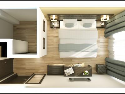 Hotel design - 3D render