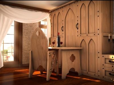 Medieval Hotel - 3D render