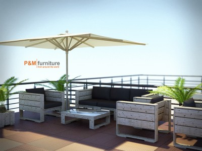 Terrace - 3D render